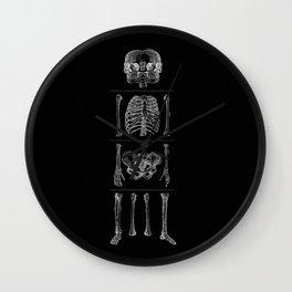 Study of the Human Bones II Wall Clock