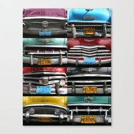 Cuba Car Grilles - Vertical Format  Canvas Print