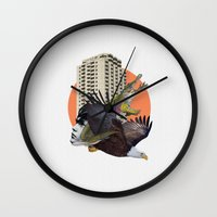 cage Wall Clocks featuring Cage home by Lerson