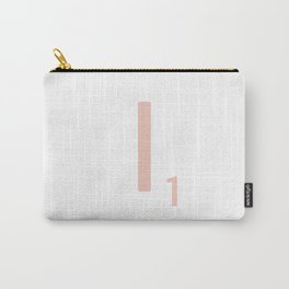 Pink Scrabble Letter I - Scrabble Tile Art and Accessories Carry-All Pouch