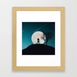 Moon of Love Framed Art Print