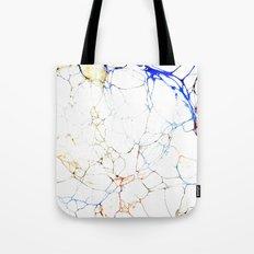 Marbled Blue Veins Tote Bag