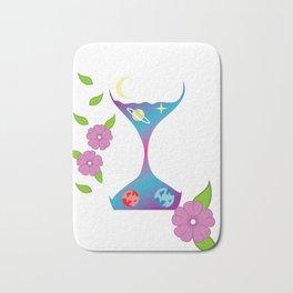 Hourglass Artist Or Illustrator Gift Bath Mat