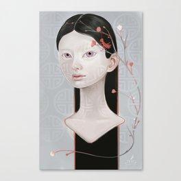 Japanese Black Blossom Canvas Print