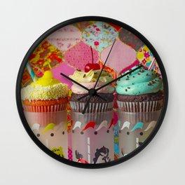 Cirque du Cupcake III Wall Clock