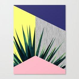 Geometric Leaves Canvas Print