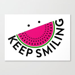 Keep smlng Canvas Print
