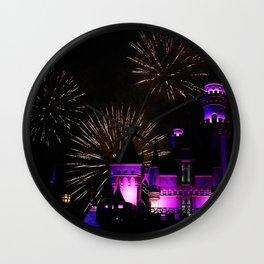 Mickey Firework, Sleeping Beauty Castle  Wall Clock