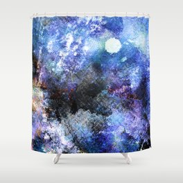 Winter Night Orchard Shower Curtain