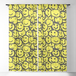 Smiley Face Yellow Sheer Curtain
