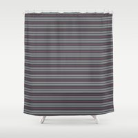 60s Shower Curtains featuring '60s arabasque by Acerebel