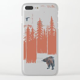 A Bear in the Wild... Clear iPhone Case