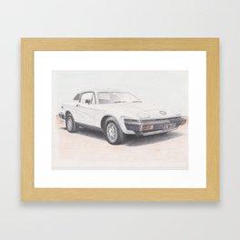 Triumph TR7 in White by Glens Graphix Framed Art Print