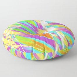 Light Dance Candy Ribs edit1 Floor Pillow