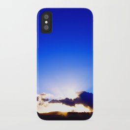 """Flickering Sunset"" with poem: There Are Moments iPhone Case"