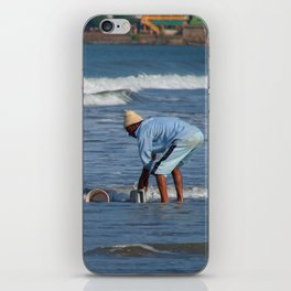 Cleaning Buckets in the Sea Arambol iPhone Skin