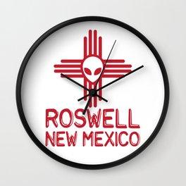 Roswell New Mexico Zia Symbol Wall Clock