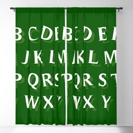 LETTERS (LEARN) Blackout Curtain