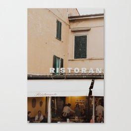 Italian Ristorante Canvas Print