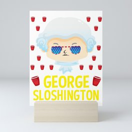 george sloshington washington 4th of july Mini Art Print
