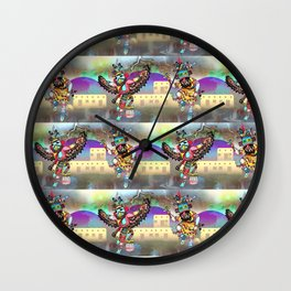 Kachina Eagle Dancer Print Wall Clock
