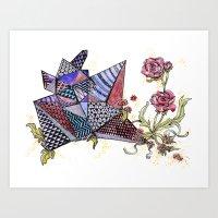 Cristaux / Crystals Art Print