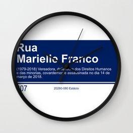 Marielle Franco - Street sign Rio de Janeiro Wall Clock
