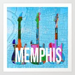Memphis Music Scene Art Print