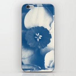 Petals by the Sea [Cyanotype Blue] iPhone Skin