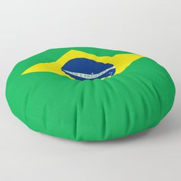 Flag of Brazil - Hi Quality Authentic version Floor Pillow