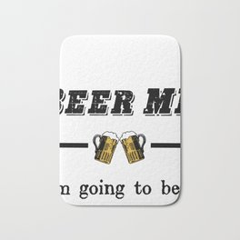 "Retro Vintage ""Beer Me, I'm Going To Be A Dad!"" Bath Mat"
