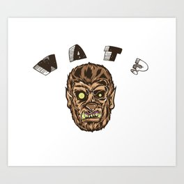 Werewolf's Daze Art Print