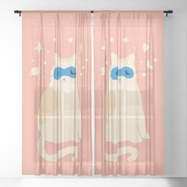 Abstraction_CAT_SWEET_DREAM_MInimalism_001 Sheer Curtain
