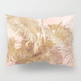 Rose golden leaves Pillow Sham