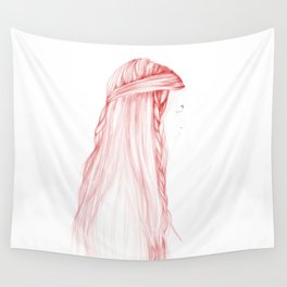 Red Hairstyle 1 Wall Tapestry