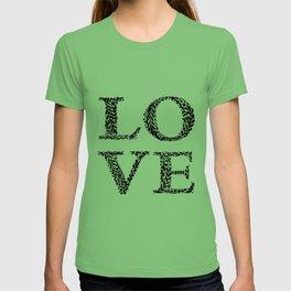 Love #1 black T-shirt