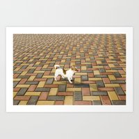 Lost in the grid Art Print