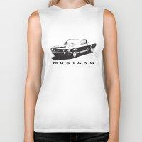 mustang Biker Tanks featuring Mustang Design by kartalpaf