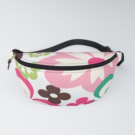 Big And Small Abstract Colorful Flowers Pattern Fanny Pack