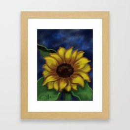 Dramatic Sunflower DP141118a Framed Art Print