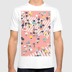 Crossing The Street On a Rainy Day Mens Fitted Tee White MEDIUM