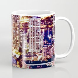 Voyeuristic 1553 Vancouver Cityscape Downtown Yaletown British Columbia Canada Hot Summer Night Coffee Mug