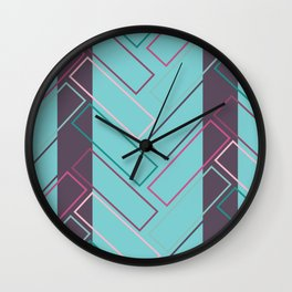 Pavers and Stripes Wall Clock