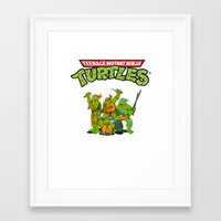 tmnt Framed Art Prints featuring TMNT @ by Hisham Al Riyami