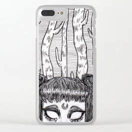 Under the Midnight Moon Clear iPhone Case