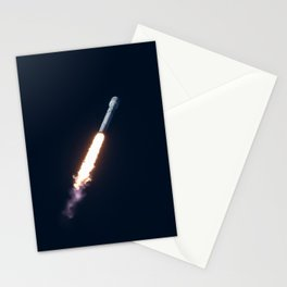 SpaceX Falcon 9 Tourism Poster Stationery Cards