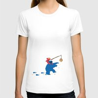 elmo T-shirts featuring Cookie Monster Donkey - Larger Placement by OneWeirdDude