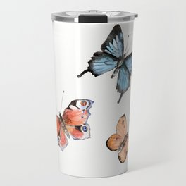 Watercolor Butterflies Travel Mug
