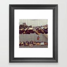 Paris Love Padlocks Framed Art Print