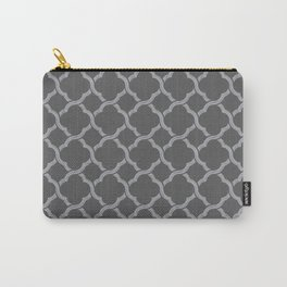 Grey Trellis Carry-All Pouch